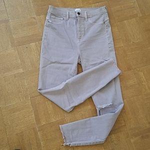 {NWOT} Sneak Peek Pale Mauve Skinny Jeans